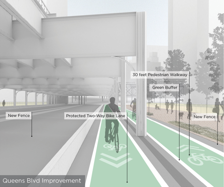 proposed new bike lane structure