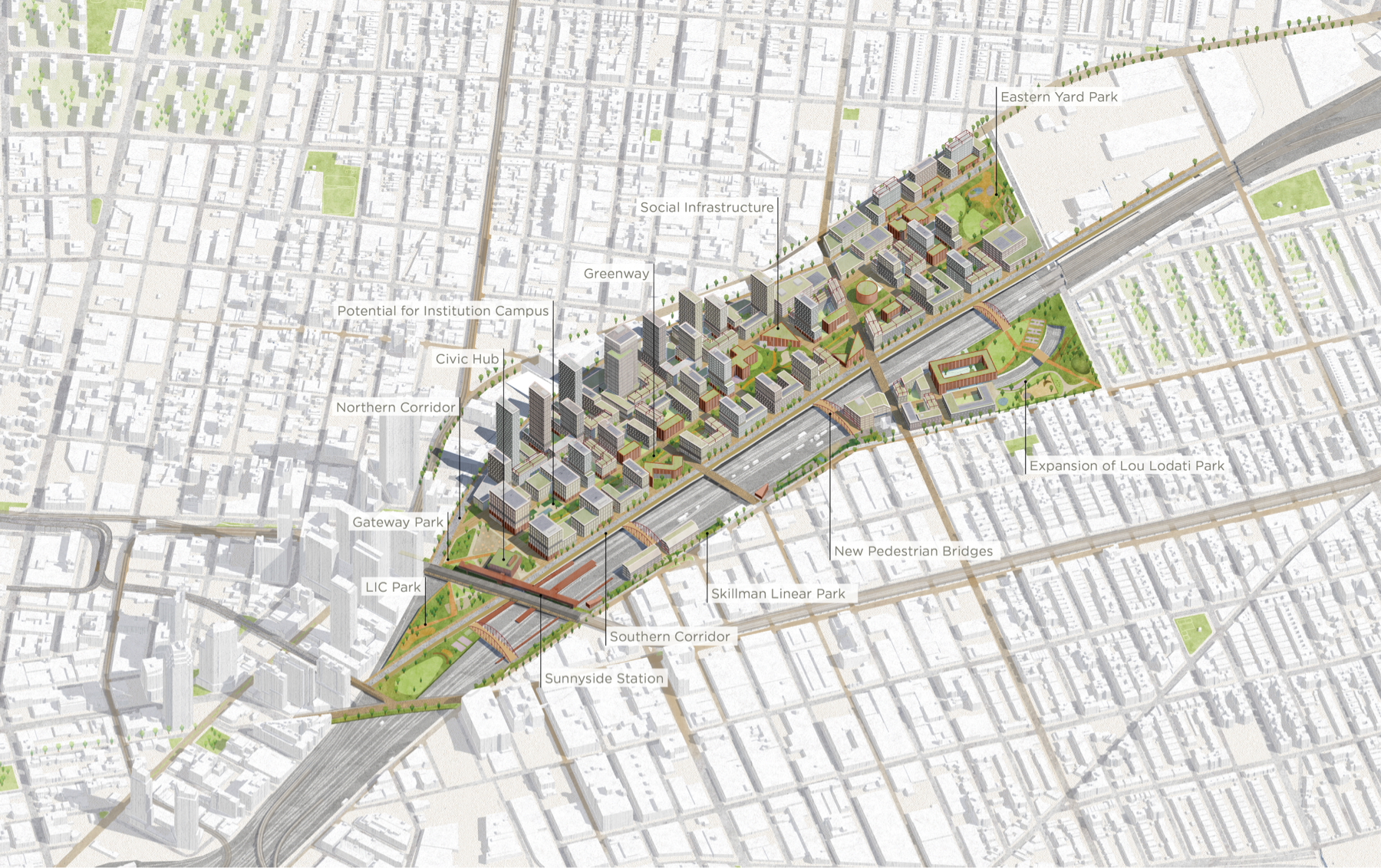 proposed map of sunnyside yards